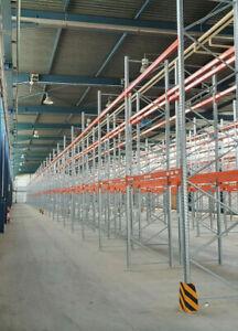 342 Plätze Palettenregal H: 5.000 mm Auflagen 2.700 mm Fachlast: 1.800 kg