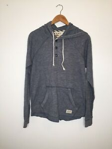 Vans-Hoodie-Small-blau-Pullover-gebogene-Off-The-Wall-Skater-Casual-Hooded-g1