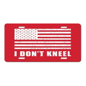"AMERICA! /""I Dont Kneel/"" Custom License Plate-American Flag National Anthem!!"
