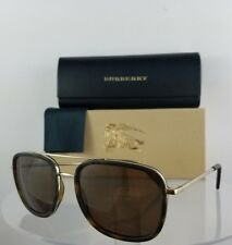 9b77d09a648 Brand New Authentic Burberry BE 3085 Sunglasses 1167 5W Brown Gold Frame  54mm