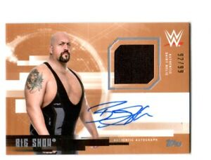 WWE-Big-Show-2017-Topps-Undisputed-Bronze-Autograph-Relic-Card-SN-92-of-99