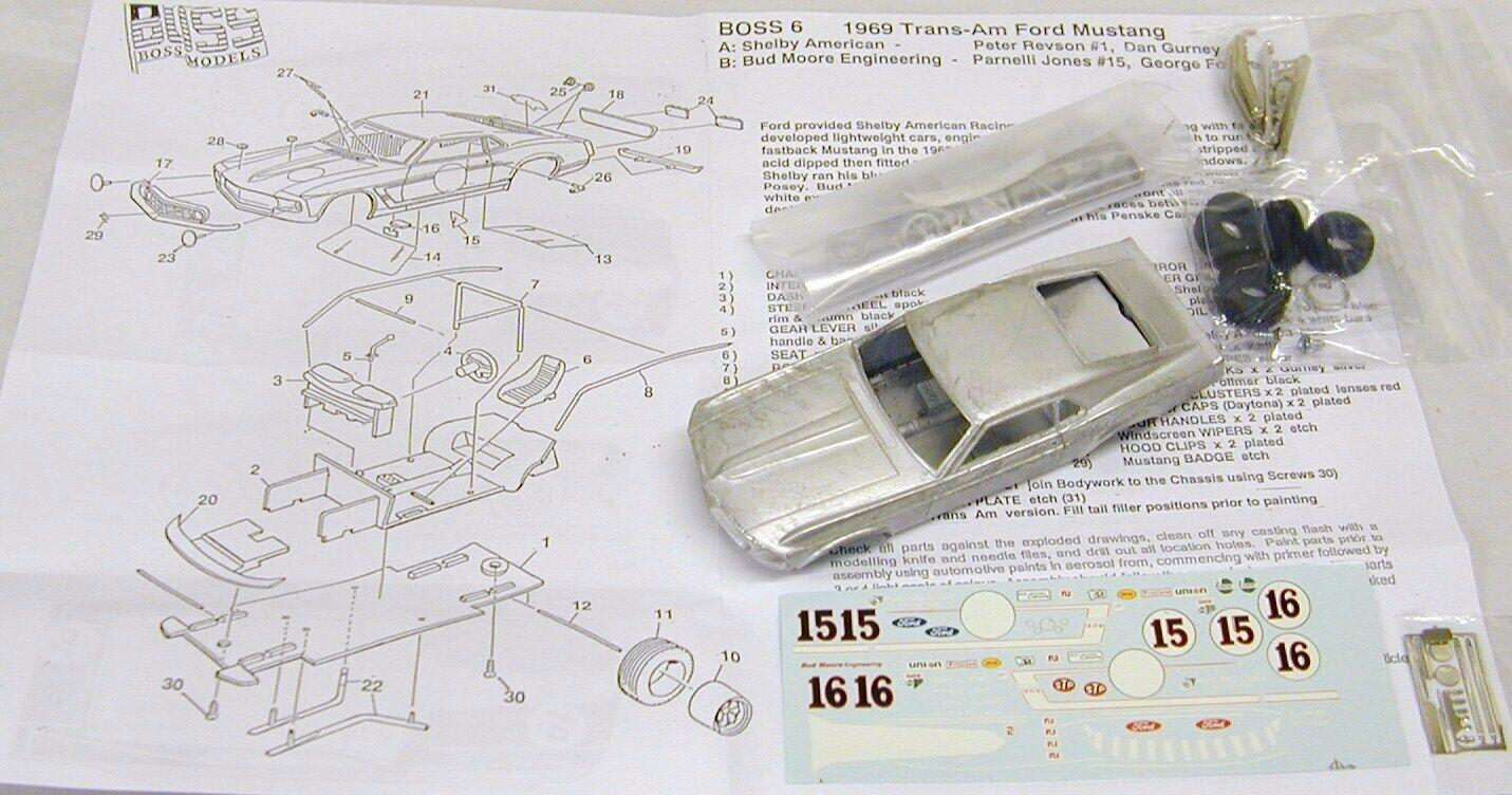 en venta en línea 1 1 1 43 BO6BK 1969 jefe 302 Transam Mustang Bud Moore Kit por SMTS  precios razonables