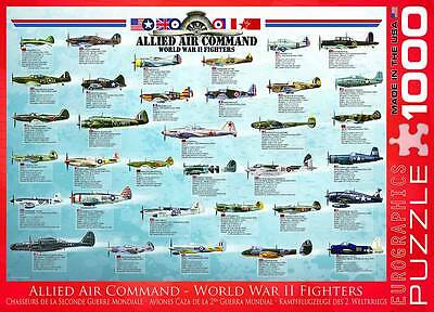 EUROGRAPHICS JIGSAW PUZZLE ALLIED AIR COMMAND - WWII FIGHTERS 1000 PCS AVIATION