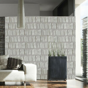 solde lot 4a contemporain biblioth que papier peint effet en moka blanc ebay. Black Bedroom Furniture Sets. Home Design Ideas