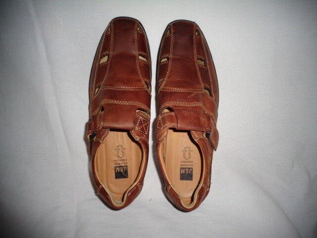 Johnston Murphy Schuhes XC4 System Braun Leder Sandales Schuhes Murphy Sheepskin Dual Width 10.5 8c81a6