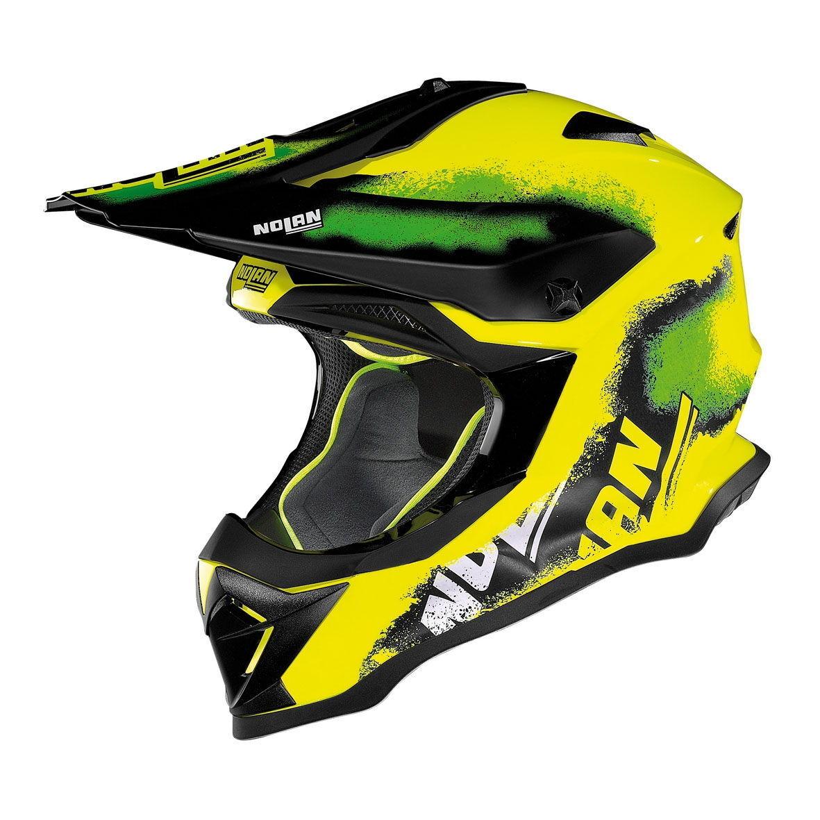 40% aus L Nolan N53 Faul Box Led Gelb Geländetauglich Motocross Mx Motorrad Helm