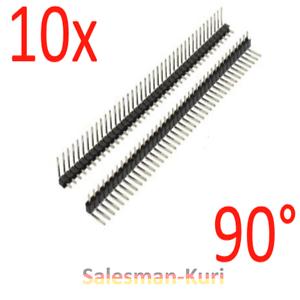 AUSVERKAUF-10x-40pin-Stiftleiste-90-Grad-Winkel-Pinleiste-RM2-54mm-gewinkelt