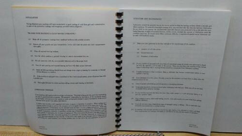 Verson 20 Series Press Brake Instruction /& Maintenance Manual