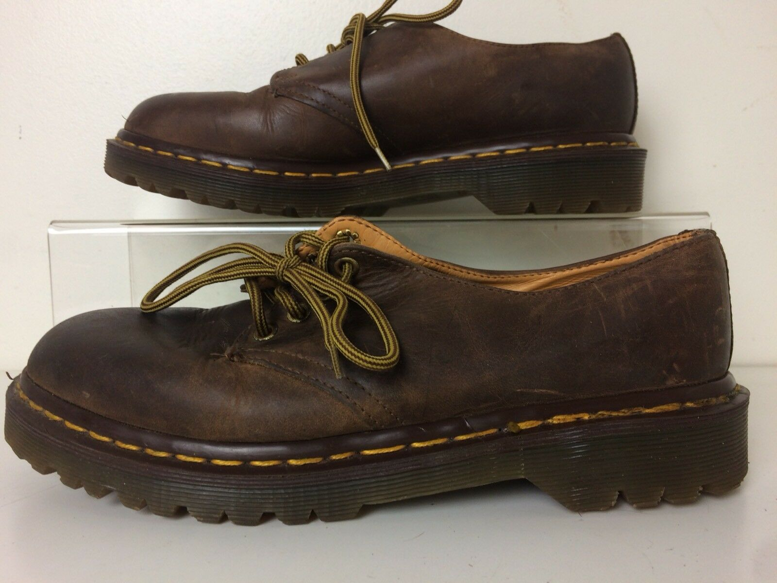 Dr Martens Brown Leather Oxfords Shoes Size Men's US 7 Made in England
