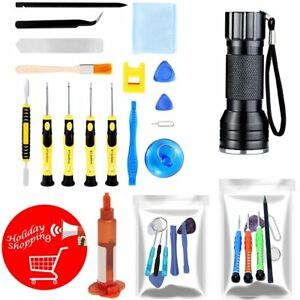 Mobile-Cell-Phone-Opening-Repair-Kit-Tools-Set-Screwdriver-LOCA-UV-Glue-UV-Light