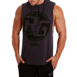 24a32532038ce0 Image is loading NEW-Mens-Muscle-racerback-Sleeveless-Hoody-Gym-Deep-