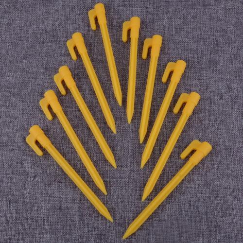 est 10x Piquets Clous de tente auvent plastique Awning Tent Stakes Pegs Nails
