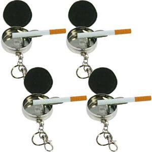 4x-Metall-Taschen-Aschenbecher-Ascher-fuer-die-Hosentasche-als-Schluesselanhaenger