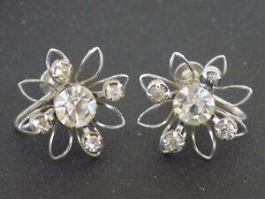 Pastel Blue Triangle Screw Back Earrings Vintage Clip On Earrings