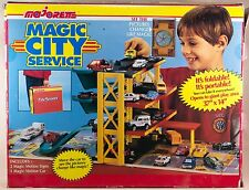 Majorette Magic City Service Portable Playset & Carry Case Holds 24 Cars France