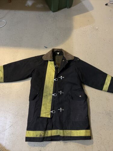 Old Black fireman coat 46