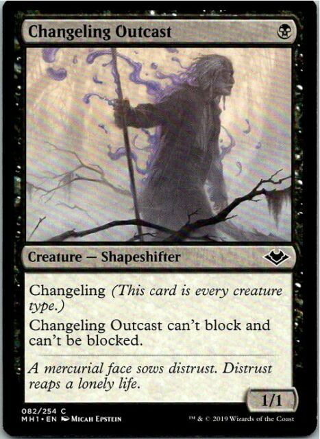 changeling outcast magic the gathering modern horizons