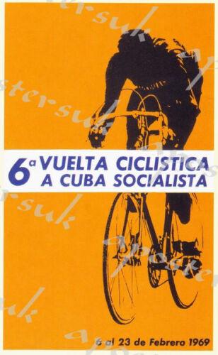 Vintage Cuban Cycling Race Poster A3//A4 Print