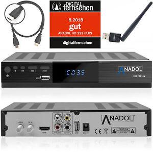 Digitaler Sat Receiver HD WLAN Anadol ADX 222 Plus HDTV DVB-S2 HDMI WLAN WIFI