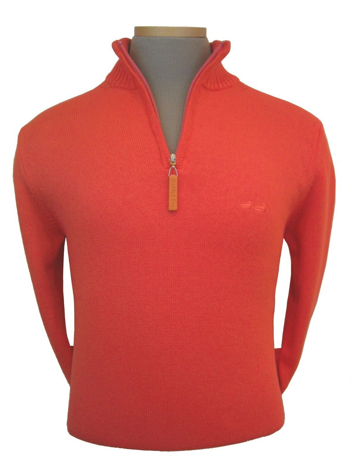 Sweater - Men's - S -  Cotton - 1 2 Zip - Lobster  - Imported From