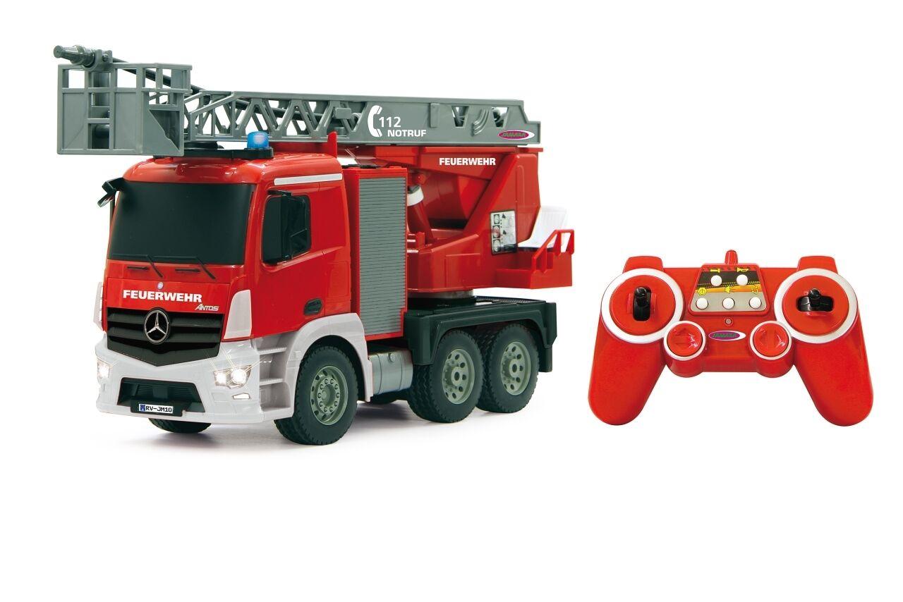 RC Feuerwehr Auto mit Spritzfunktion & & & Drehleiter Feuerwehrauto Mercedes <<TOP   b65426