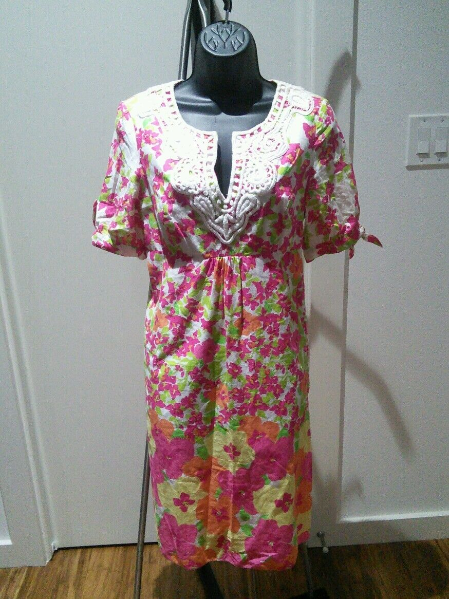 Lilly pulitzer floral dress, size 4
