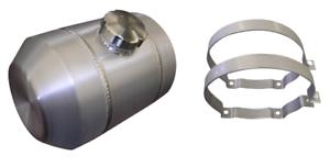 Mini Bike 1//4 NPT 2 Gallon 6x20 Center Fill Round Spun Aluminum Gas Tank