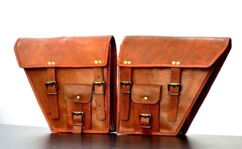 Satteltaschen Taschen Seitentasche Motorrad Leder Seitentaschen Braun Two YZq1qvw