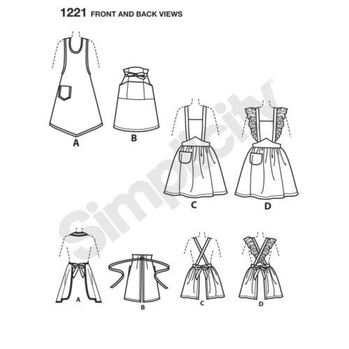 Simplicity Sewing Patterns Misses/' Retro Vintage 1930s 1940s Dresses Aprons Tops