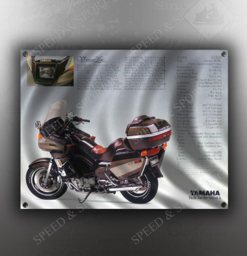 VINTAGE YAMAHA VENTURE ROYALE MOTORCYCLE BANNER