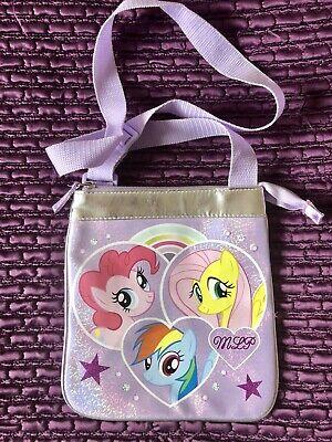 Accurato My Little Pony Borsa Tracolla Lilla Con Cinturino Regolabile-mostra Il Titolo Originale