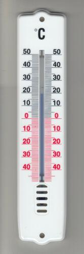 Außen/ Innen Analog -Thermometer, weiß, 21 cm, Deutsches Markenfabrikat