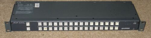 Leitch Harris RCP16x16P 1Ru 16x16 router matrix panel XY with power supply