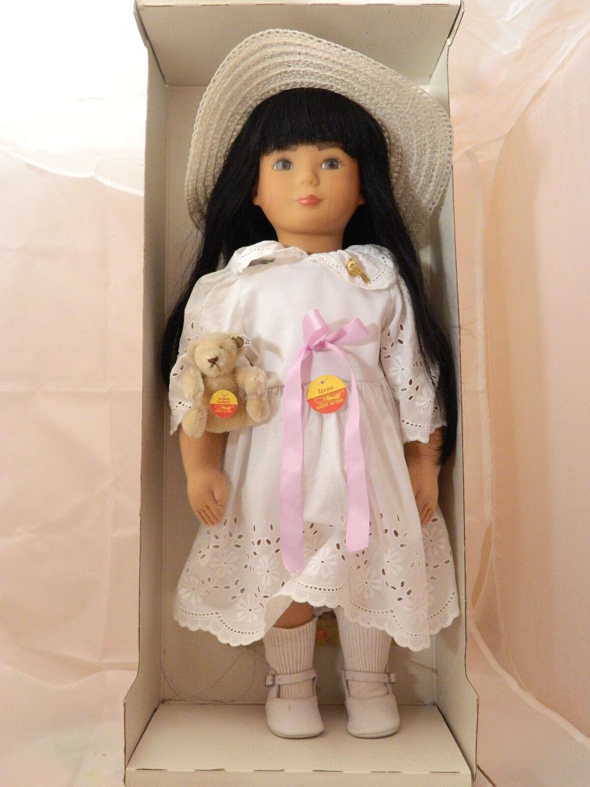 Original Steiff Puppe IRENE mit Teddy   Im Karton & Zertifikat 281 1000