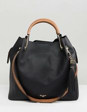 5067fad13df28 BRAND NEW DUNE DAURA Black Tan Metal Top Handle Slouch Bag SOLD OUT! 👜