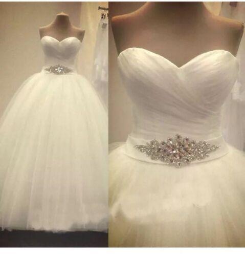 REGNO Unito più taglie bianco/avorio Sweetheart abito da sposa da sposa abito taglia 6-26