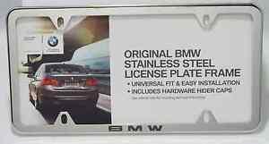 Image Is Loading BMW Polished Stainless Steel Laser Slimline License Plate