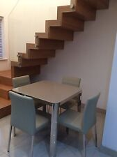 Roma Glass Dining Table and 4 Chairs