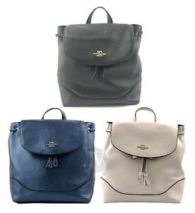 Coach-F72645-F72841-Elle-Pebbled-Leather-Backpack-Bag