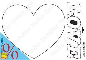 Schablone-Stencil-A3-311-0972-Flaeche-Herz-Neu-Heike-Schaefer-Design