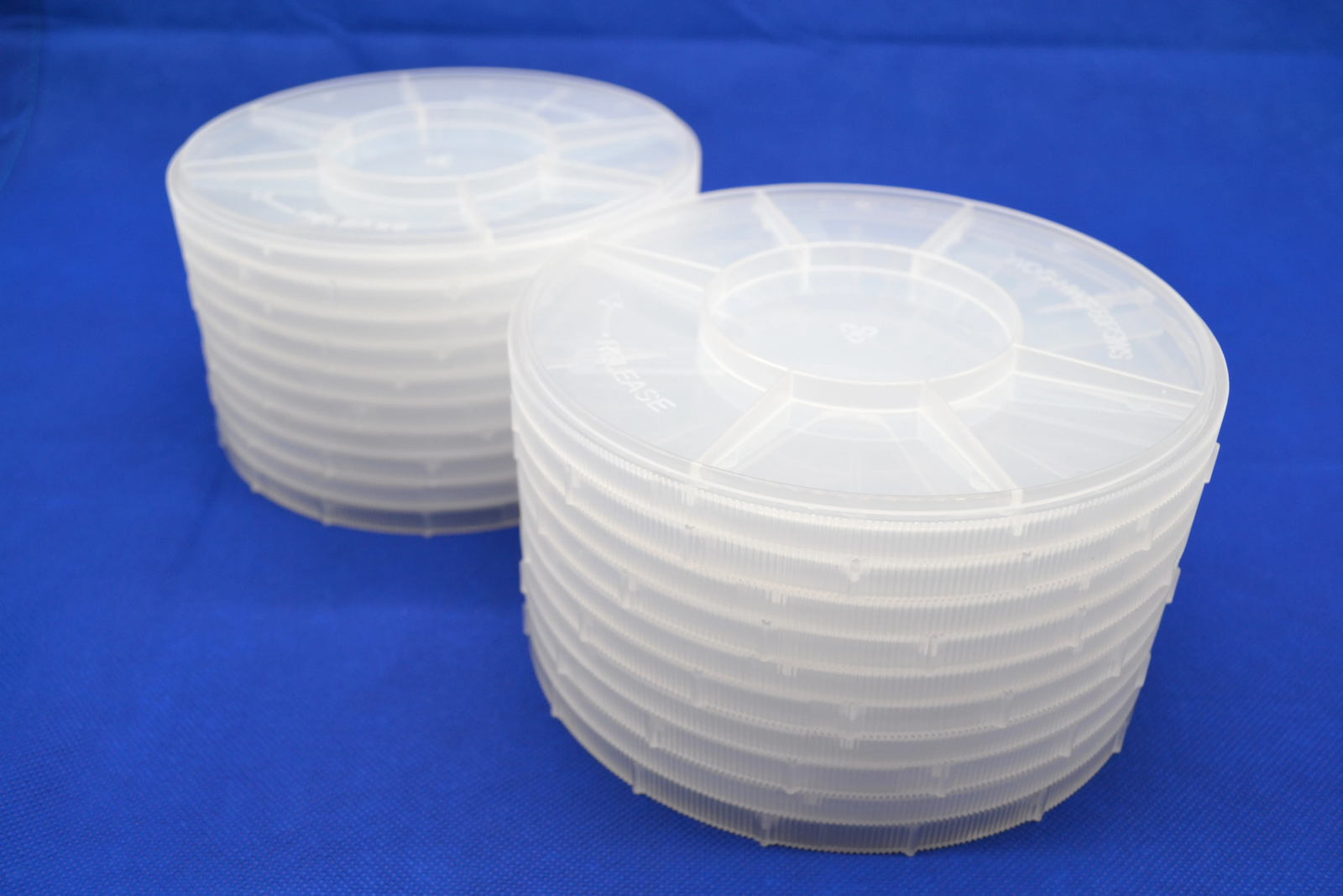 6 Inch Single Wafer Carrier Case (Pack of 10), Polypropylene, Cleanroom Class 10