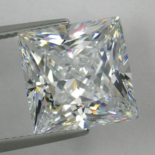 IF Square Princess Colorles White Russian Lab Made Diamond AAAAA SUN D-F