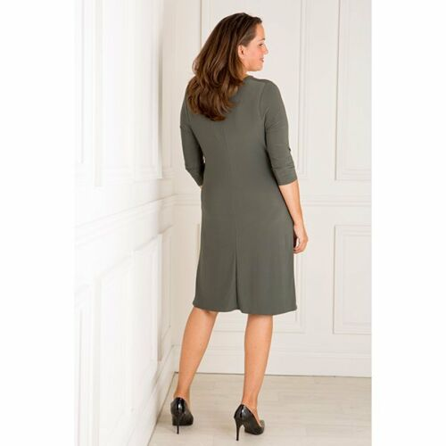Nicole 3//4 Sleeve Cowl Neck Dress various colours /& sizes