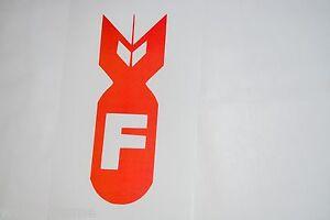 F Bomb Vinyl Car Decal Bumper Window Mirror Mac Sticker F