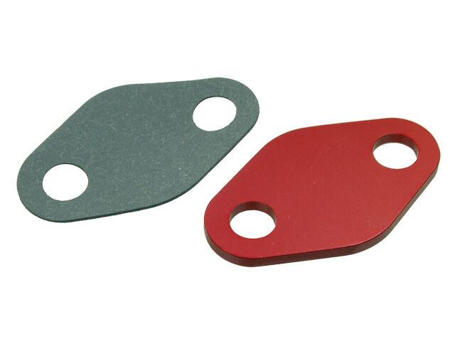 Red EGR Delete Block Off Plate Fits KA24E Nissan S13 240sx /& Hardbody
