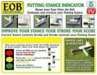 Eyes Over The Ball Putting Stance Indicator Clear Yellow Red Green One Size. B