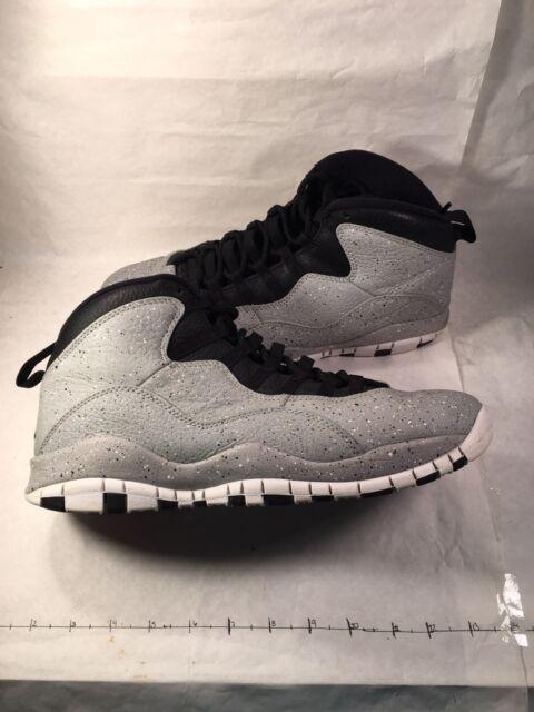 on sale d2e74 c9cd7 Nike Air Jordan X 10 Retro Cement Light Smoke Grey/black Size 11