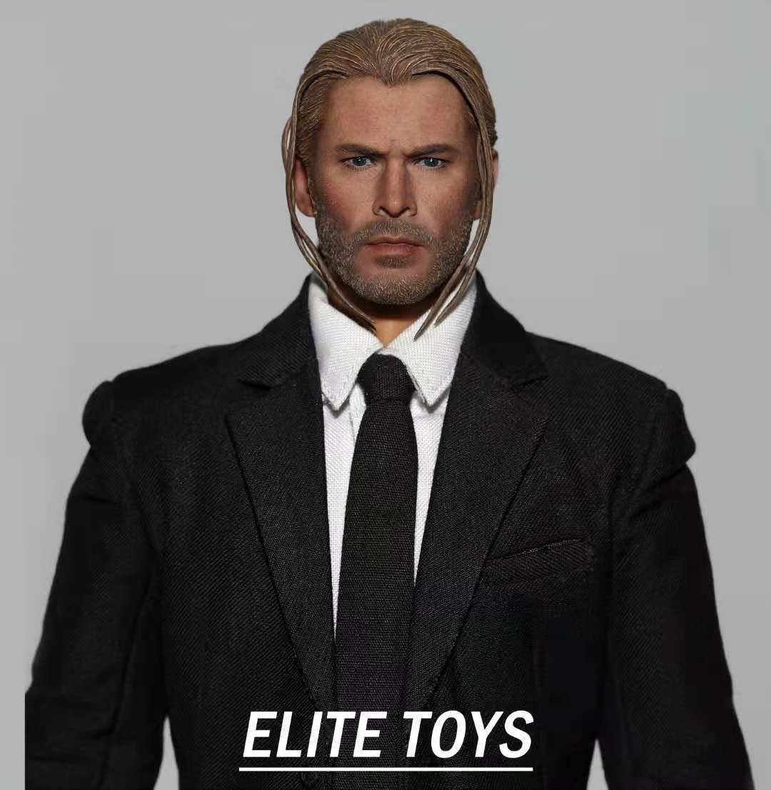 ELITE TOYS 1 6 Thor Head Model Male Braid Head Carving F 12'' Figure Body