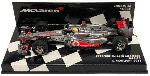 Lewis Hamilton 1//43 Scale Minichamps McLaren MP4-26 #3 2011