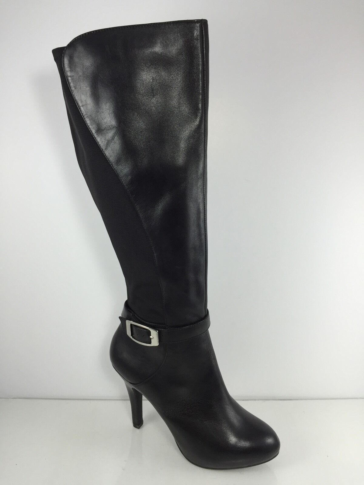 Me Too Womens Black Leather Knee Boots 9.5 M